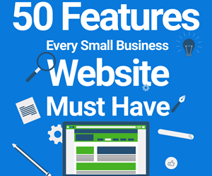 50 Features Every Small Business Website Must Have (Infographic)